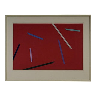 Alan Cote 1970's Abstract Screenprint For Sale