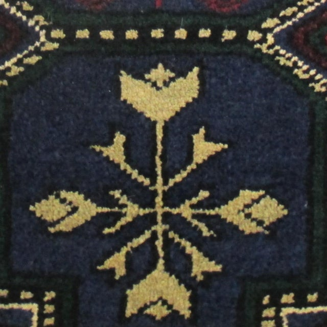 Turkish Yastik hand-knotted carpet Bold colors and design make up this vintage yastik that is circa 1970. A wonderful fit...