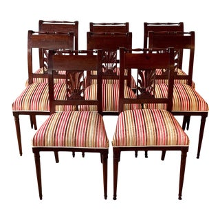 19th Century Directoire Style Dining Chairs - Set of 8 For Sale