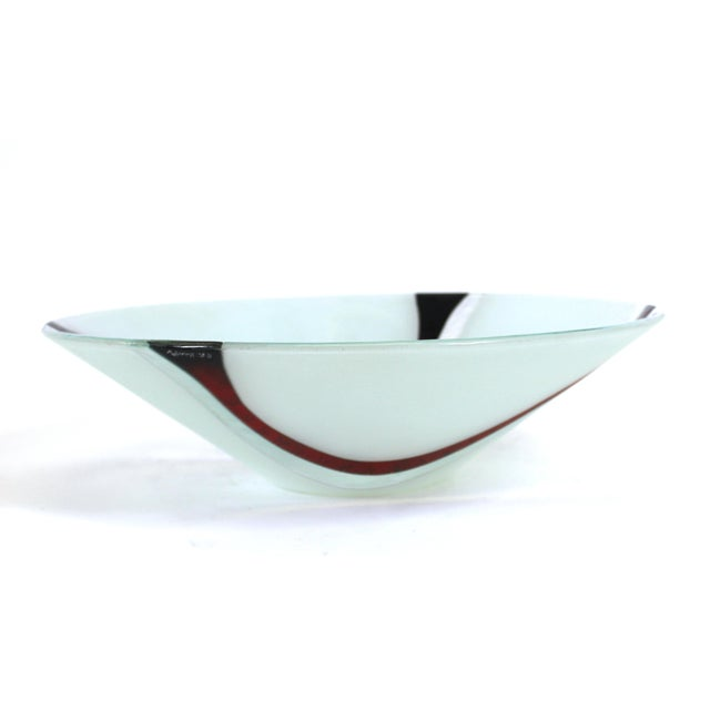 Late 20th Century Richard Knopf Postmodern Glass Charger Plate For Sale - Image 5 of 10