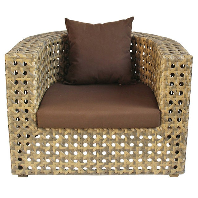 Outdoor Faux Rattan Club Chair - Image 1 of 3