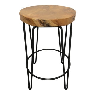 Crate & Barrel Origin Backless Counter Stool For Sale