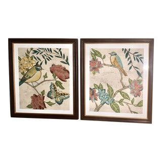Vintage Limited Edition Botanical Framed Prints - a Pair For Sale