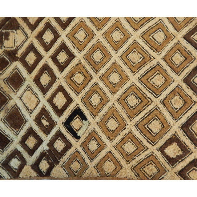 Brown African Kuba Kasai Velvet Raffia Textile Zaire For Sale - Image 8 of 10