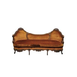 Early 20th Century Antique Victorian Swan & Kissing Bird Carved Frame Mahogany Sofa For Sale