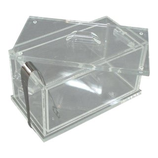 Lucite Ice Bucket with Removable Liner For Sale