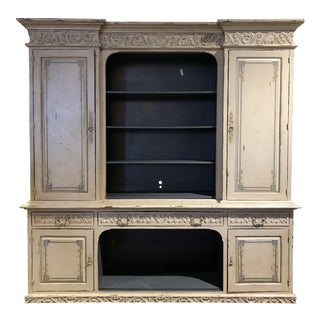 Monumental Large French Country Wall Unit Storage