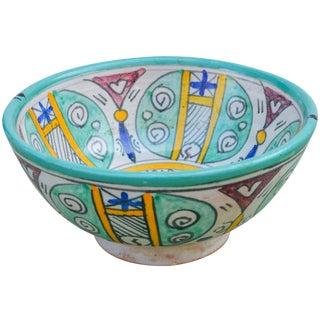 Afro-Moresque Ceramic Bowl For Sale