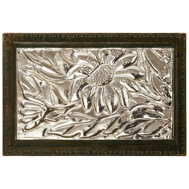 Italian Leather and Silver Repousse Jewelery Box For Sale - Image 12 of 12