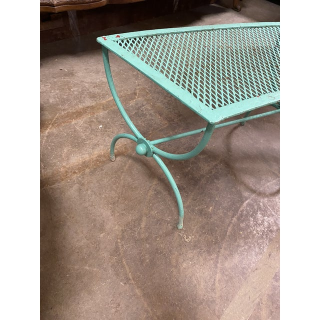 Mid-Century Modern Mid-Century Modern Salterini Style Curved Iron Garden Bench For Sale - Image 3 of 6
