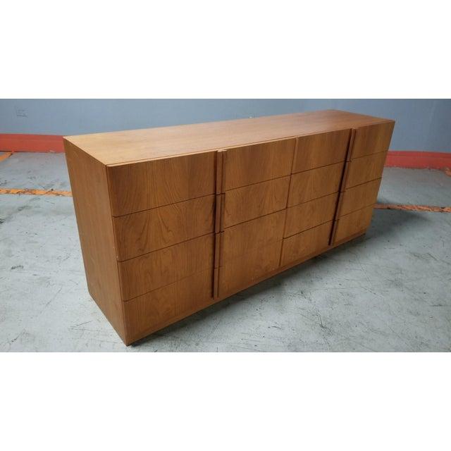 Mid-Century Modern Mid Century Modern Danish 8 Drawer Credenza Dresser For Sale - Image 3 of 12