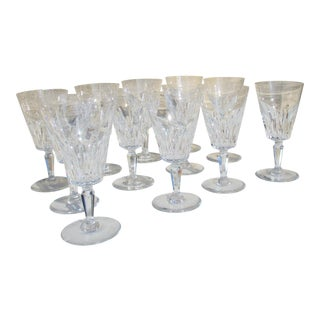 Baccarat Carcasonne Pattern Tall Water Goblets- Set of 12 For Sale