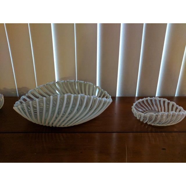 Antique Pressed Opalescent Bowls - Set of 7 - Image 3 of 6