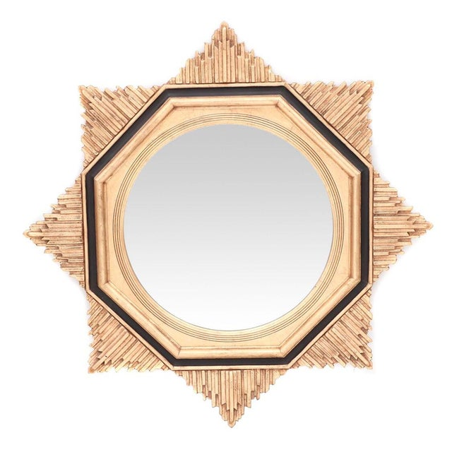 Wood Friedman Brothers Art Deco Sunburst Mirror For Sale - Image 7 of 7