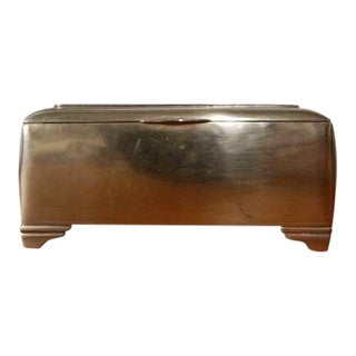 Mahogany Lined Brass Box by Just Andersen For Sale