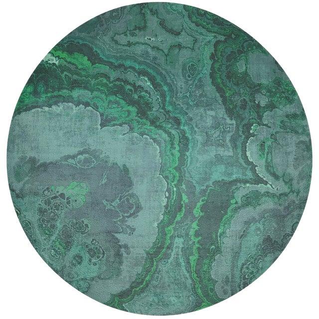"Nicolette Mayer Agate Malachite 16"" Round Pebble Placemats, Set of 4 For Sale"