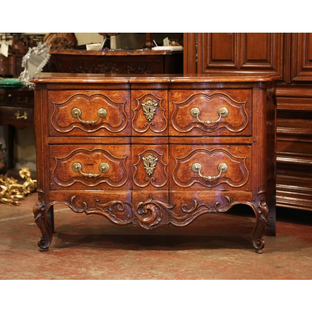 This important antique fruitwood commode was crafted in Southern France, during the reign of King Louis XV, circa...