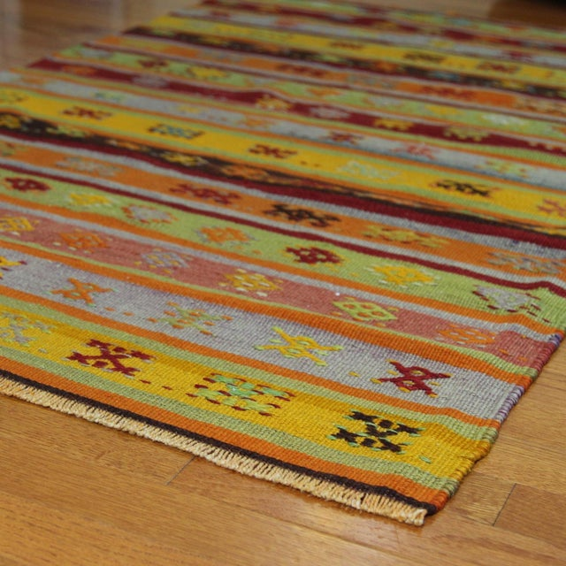 Turkish Handmade Anatolian Kilim Rug - 1′9″ × 3′5″ - Image 4 of 6