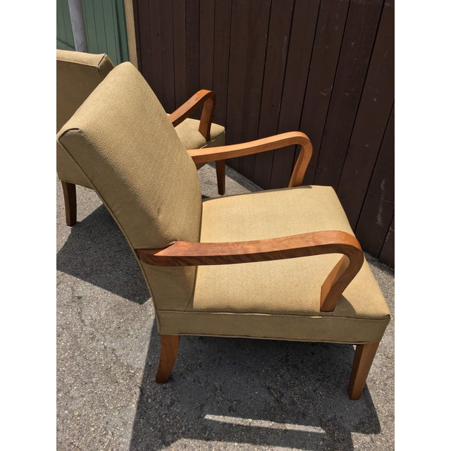 Art Deco Club Chairs - Pair - Image 9 of 10