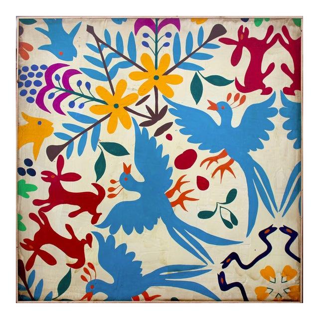 "Original ""Cantata"" Folk Art Oil Painting - Image 1 of 4"