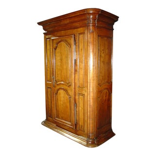 Imposing 18th Century Fruitwood Bonnetiere From France For Sale