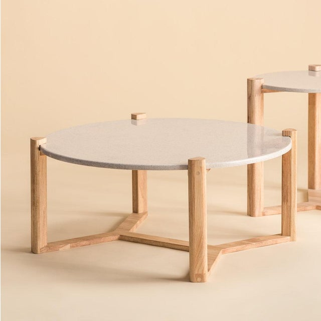 Ebb and Flow Modern Ebb and Flow May-Round Coffee Table For Sale - Image 4 of 4