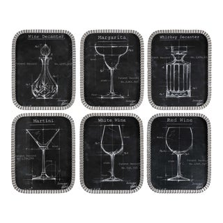 Classic Framed Barware Blueprints - Set of 6 For Sale