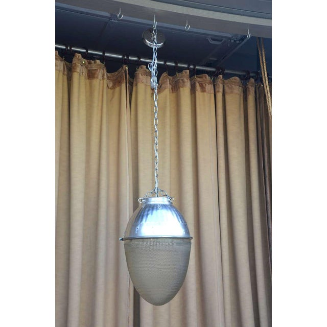 Beautiful 1930's - 1950's hanging Pendant street light. Restored for interior use this unit would have adorned an...