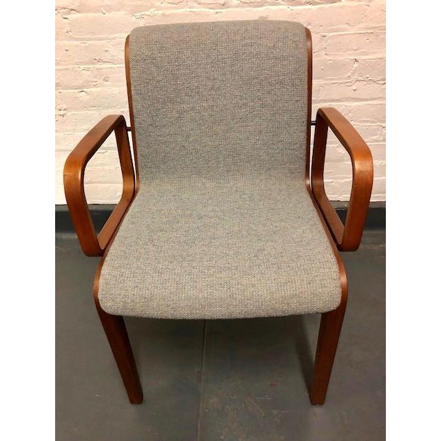 Wood 1980s Vintage Mid-Century Modern Bill Stephens for Knoll Chairs - A Pair For Sale - Image 7 of 12