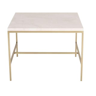 Hogue Travertine Top Side Table For Sale