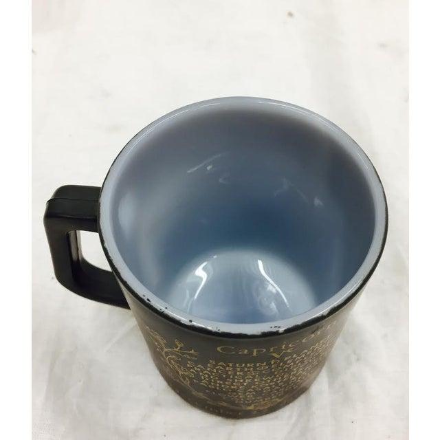 Vintage Black & Gold Zodiac Coffee Cup Mug For Sale - Image 9 of 11