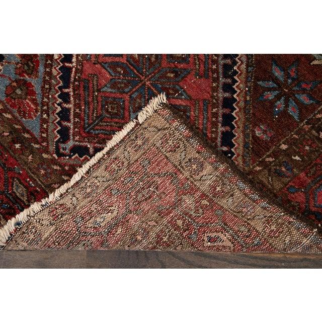 Traditional Vintage Heriz Wool Rug 3'7'' X 6'5'' For Sale - Image 3 of 13