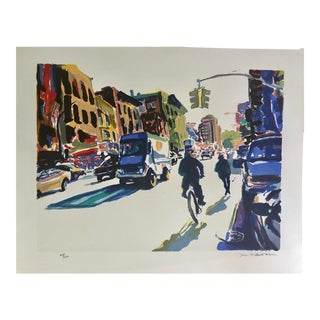 Vintage Serigraph New York City Scene by Tom Christopher For Sale
