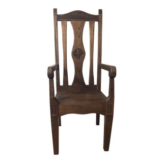 Teak High Back Chair
