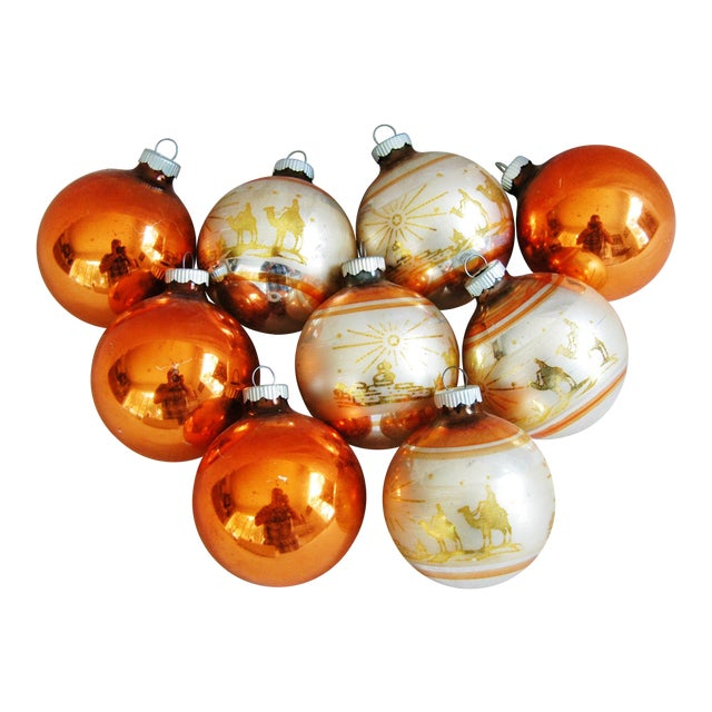 1950s Christmas Ornaments With Box - Set of 9 - Image 1 of 8