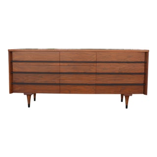 Mid Century Walnut 9 Drawer Dresser