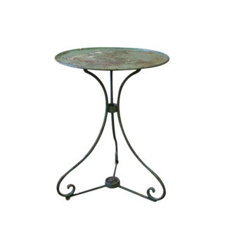 French Green Metal Garden Table