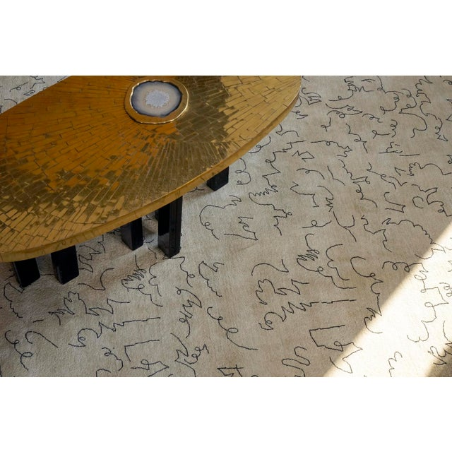 Hand knotted artistic rug homage to Jean Cocteau - Design N.12 Manufactured by Boccara Material: wool Dimensions: 400 x...