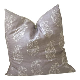 John Robshaw Kashmir Lilac Paisley Pillow Cover For Sale