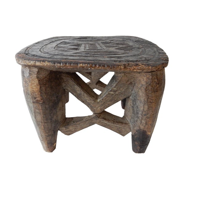 Senufo Carved Milk Stool - Image 1 of 6