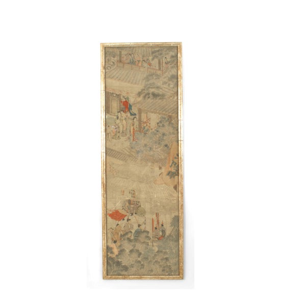 Mid 19th Century 19th C. Chinese Watercolor Landscape Panels- Set of 4 For Sale - Image 5 of 6