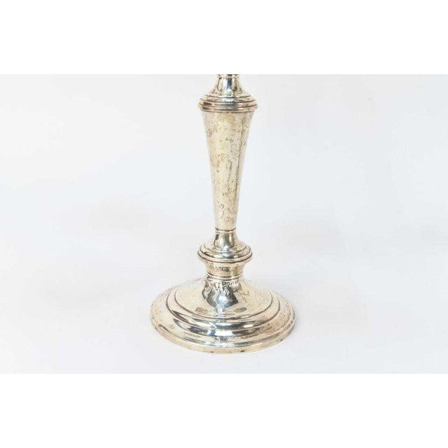 1980s Gorham Sterling Silver 5 Light Candelabras - a Pair For Sale - Image 5 of 7