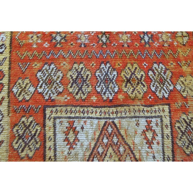 Early 20th Century 1900s Handmade Antique Moroccan Berber Rug 4' X 7.6' For Sale - Image 5 of 11