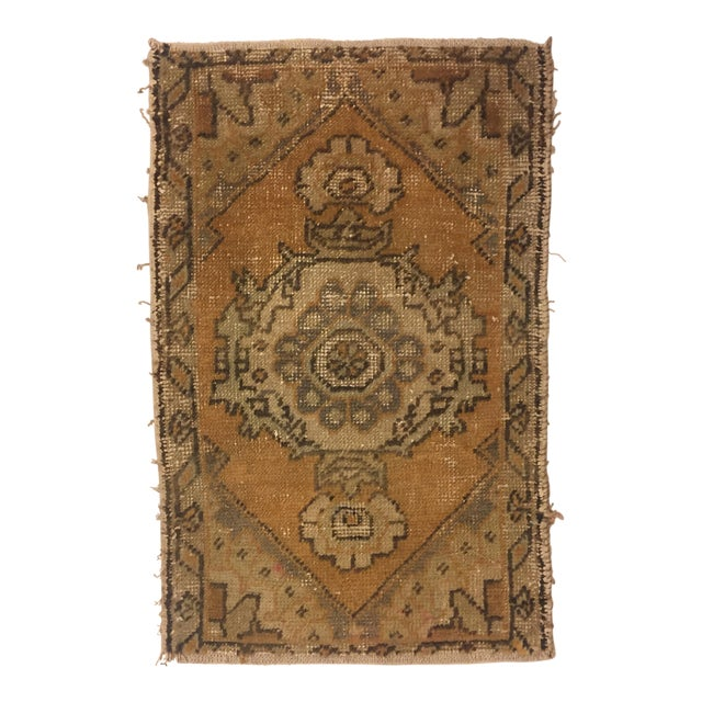 Turkish Hand Kontted Faded Rug - 1′8″ × 2′7″ For Sale