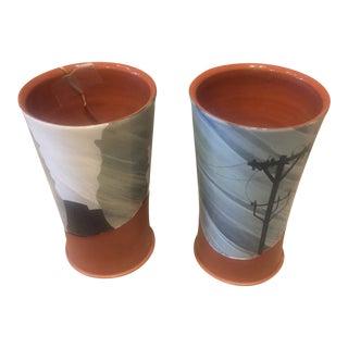 Kip O'Krongly Ceramic Vessels - a Pair