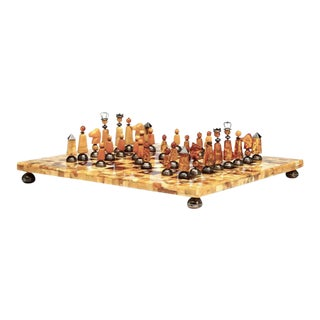 Danish Amber Chess Set by Peter H. Ernst For Sale