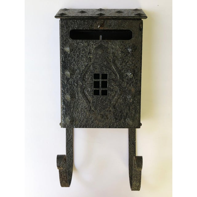 Vintage wall mount mailbox with loads of character! Fits in with Arts & Crafts, Mission, Craftsman, Gothic or Tudor...