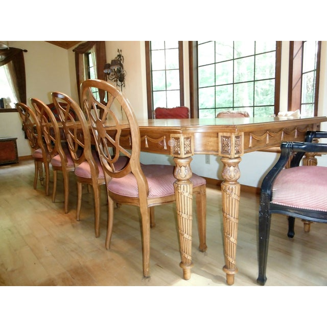 Century Furniture Traditional Carved Dining Table - Image 7 of 7