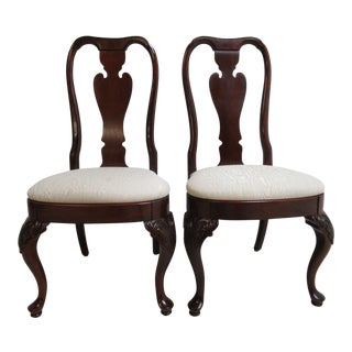 Knob Creek Queen Anne Dining Side Chairs - a Pair For Sale
