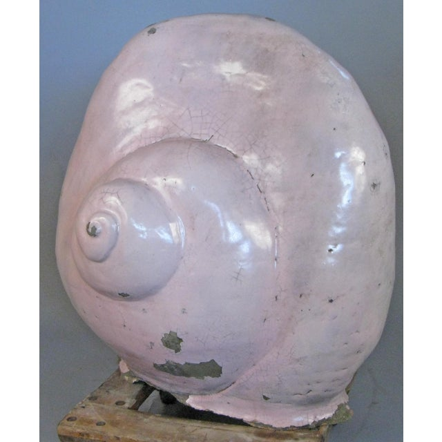 Antique Glazed Terracotta Snail Sculpture For Sale - Image 9 of 9
